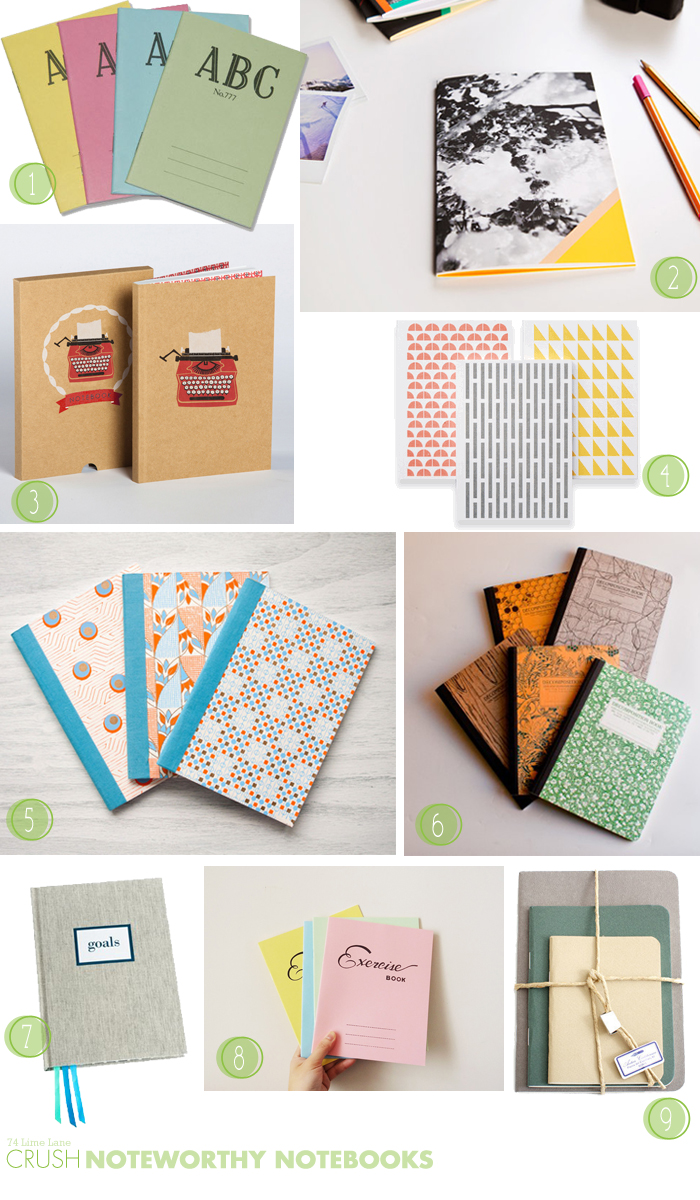 {crush} noteworthy notebooks