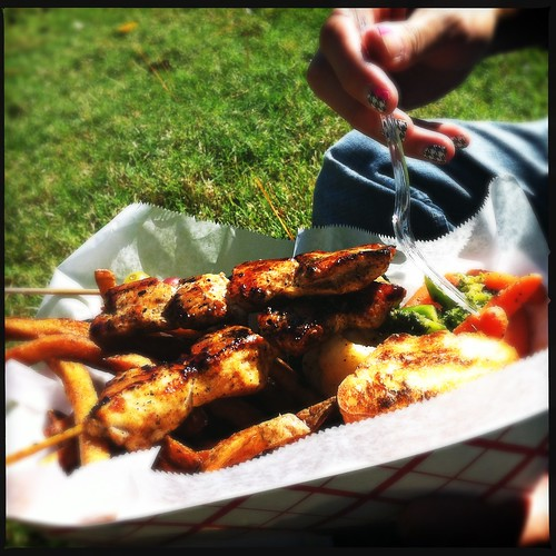 Chicken kabobs, Stickem Truck, Memphis, Tenn.