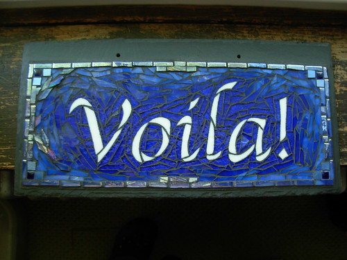 Voila! Mosaic House Sign by Nutmeg Designs
