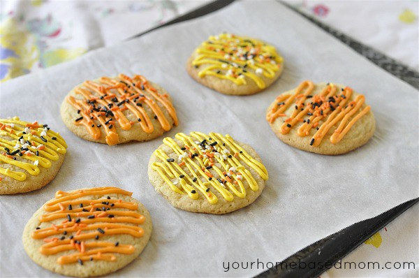 Candy Corn Sugar Cookie