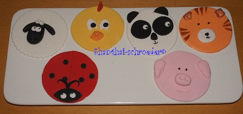 Fondant Cupcake Faces Fondant Animal Face Cupcake