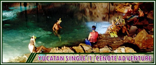 Yucatan Single (1) Cenote Adventure Package