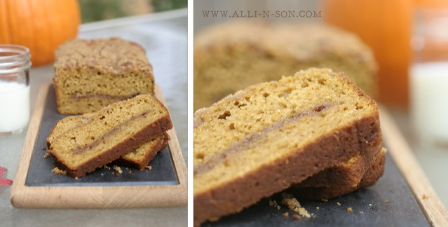Cinnamon Swirl Pumpkin Bread Recipe