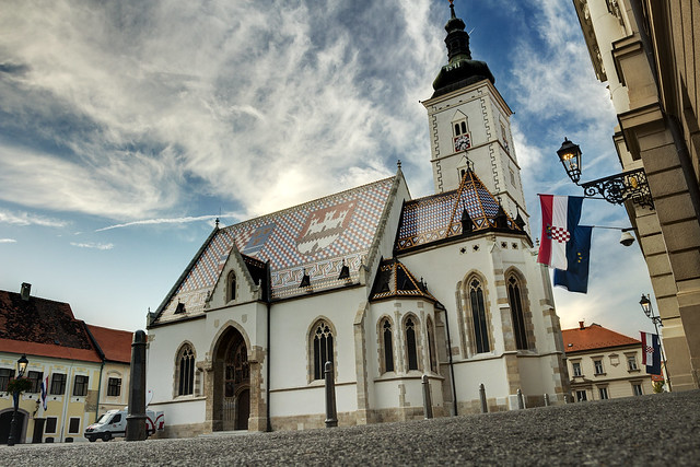 St. Mark's Church in Zagreb / Croatia
