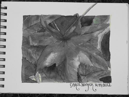 IVTA- Au Glow Leaf B&W