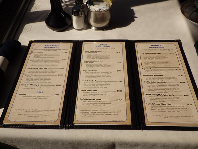 Amtrak Coast Starlight Menu