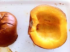 Inside of Roasted Pumpkin Half