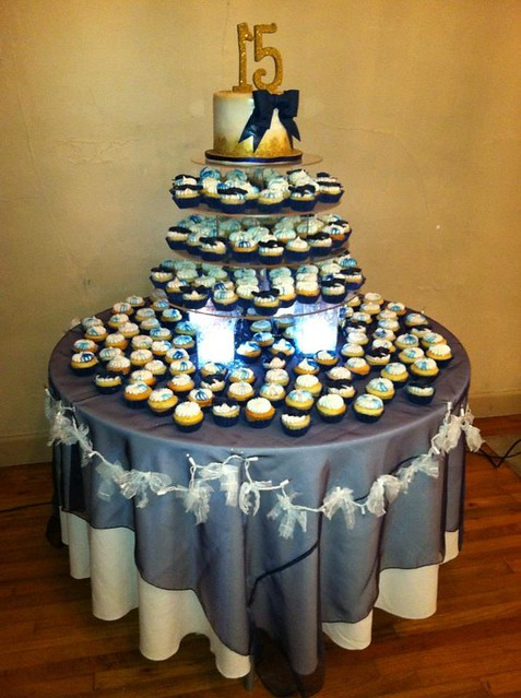 photoQuinceanera Cakes With Cupcakes
