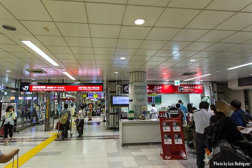 Camino de los andenes del Narita Express
