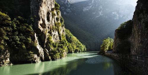 light italy panorama river landscape italia fiume gorge rays caravaggio luce marche paesaggio raggi furlo goladelfurlo candigliano
