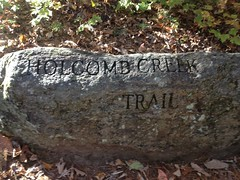 Holcomb Creek Trail Sign