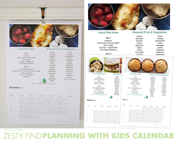 {zesty find} planning with kids calendar