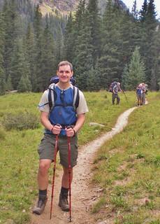 Dennis Hiking Into Chicago Basin
