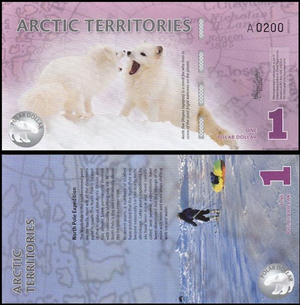 1 Polárny dolár Arktída 2012, polymer
