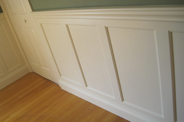 Beaded recessed panel dining room newark de delaware wainscoting america project 18556 flickr - Dining room panels ...
