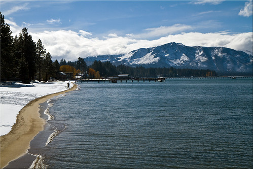 ca autumn mountain lake snow high day south snowstorm shoreline tahoe first alpine 100views elevation snowfall 8073
