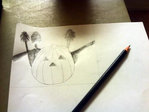 Drawing The Smiling Jack o Lantern: Part 1