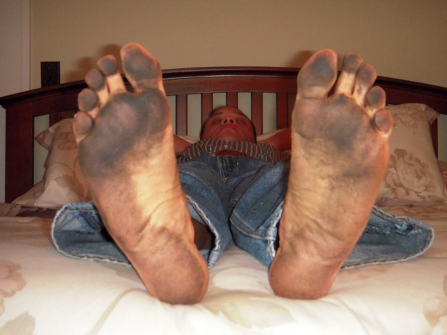 Dirty Bare feet