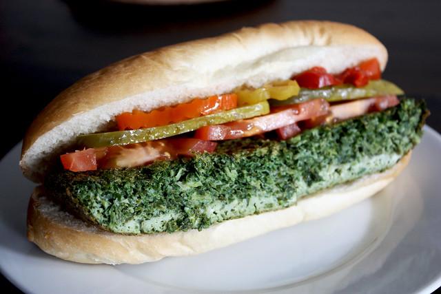 Kookoo Sabzi Sandwich