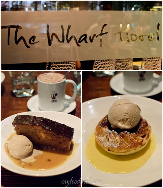 Wharf Hotel - Sticky date pudding, apple tart