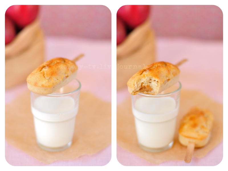 Apple Popcakes with Dulce de Leche Filling - collage