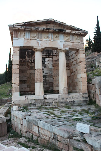 The reconstructed Treasury of Athens, Delphi