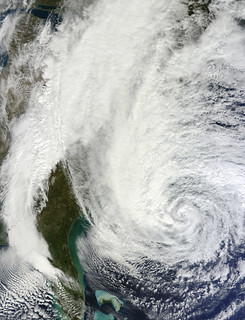Hurricane Sandy off the Carolinas