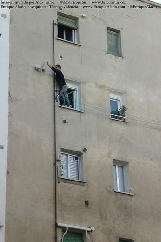 Situaciones de peligro en los trabajos en fachadas