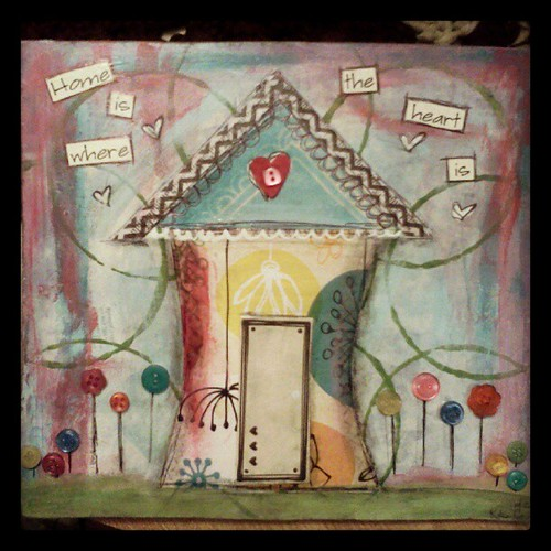 finished #home is where the #heart is #mixedmedia #collage #painting