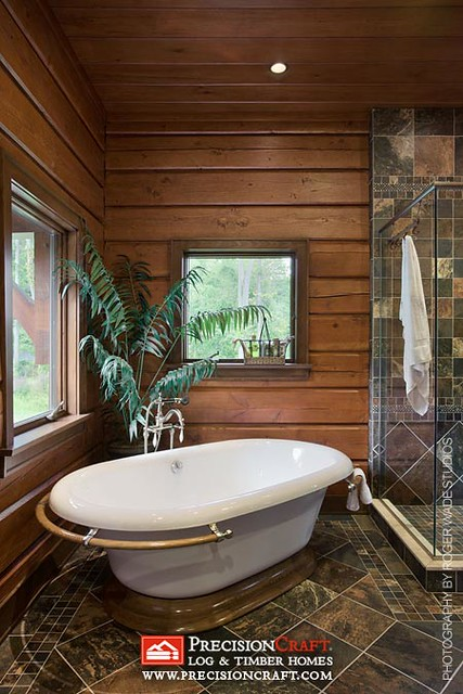 Bathroom | PrecisionCraft Log Home