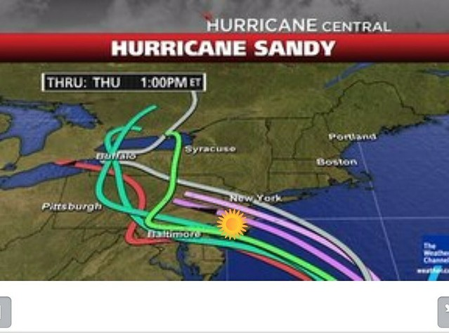 Hurricane Sandy, Spaghetti Tracks
