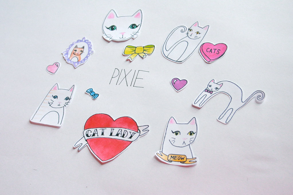 Cat Lady Sticker Set