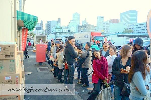 tsukiji market - best sushi - sushi dai