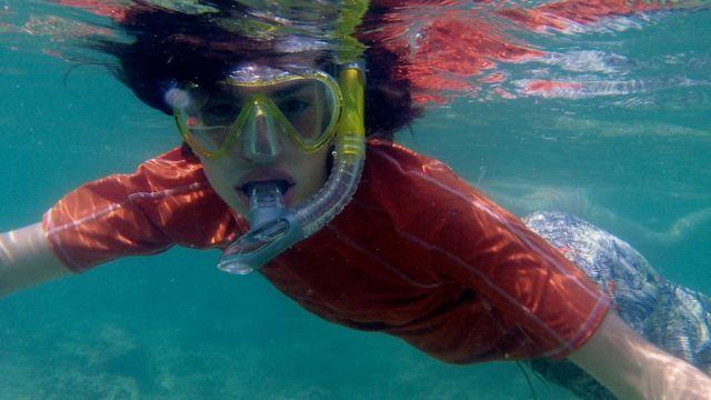 Gabe underwater