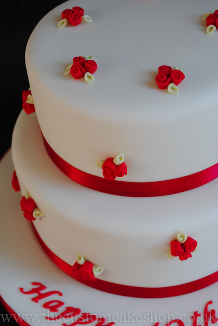 40th ruby wedding anniversary cake 40th ruby wedding anniversary cake