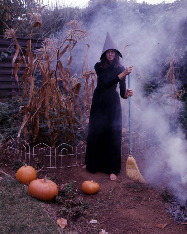 Carolyn Steinmetz dressed as a witch for Halloween: Sarasota, Florida