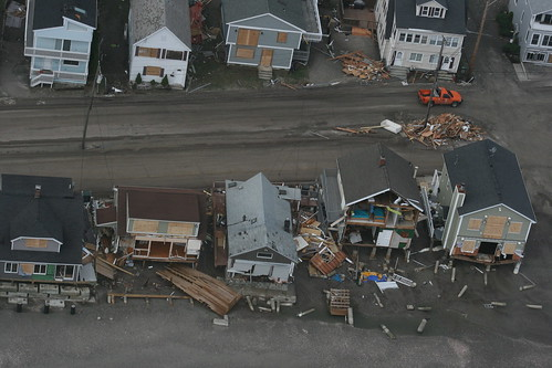 Photo from the aerial assessment of Hurricane Sandy damage in Connecticut. Photo from the Office of Governor Dan Malloy.