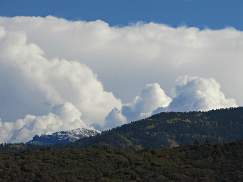 sky mountains clouds rural colorado ridgway