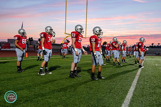 Sunset on Pre-Game warm ups