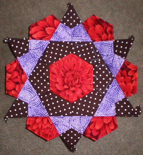English paper pieced patchwork star