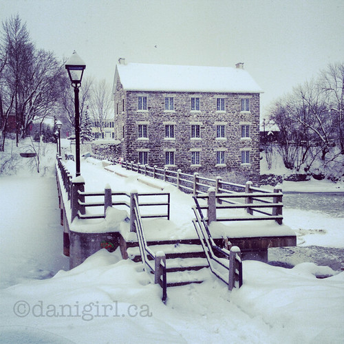 冬天的早晨在#manotick的工厂