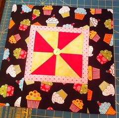 Cupcakes Pinwheel Pillow