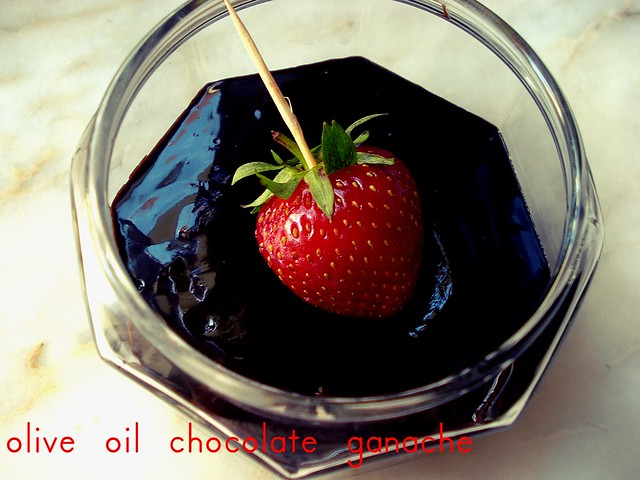 strawberry w/olive oil ganache
