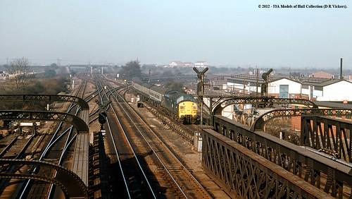 train diesel railway britishrail doncaster southyorkshire passengertrain class37 marshgatejunction