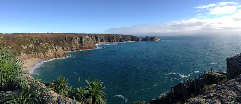 Panorama from the Minack Theatre