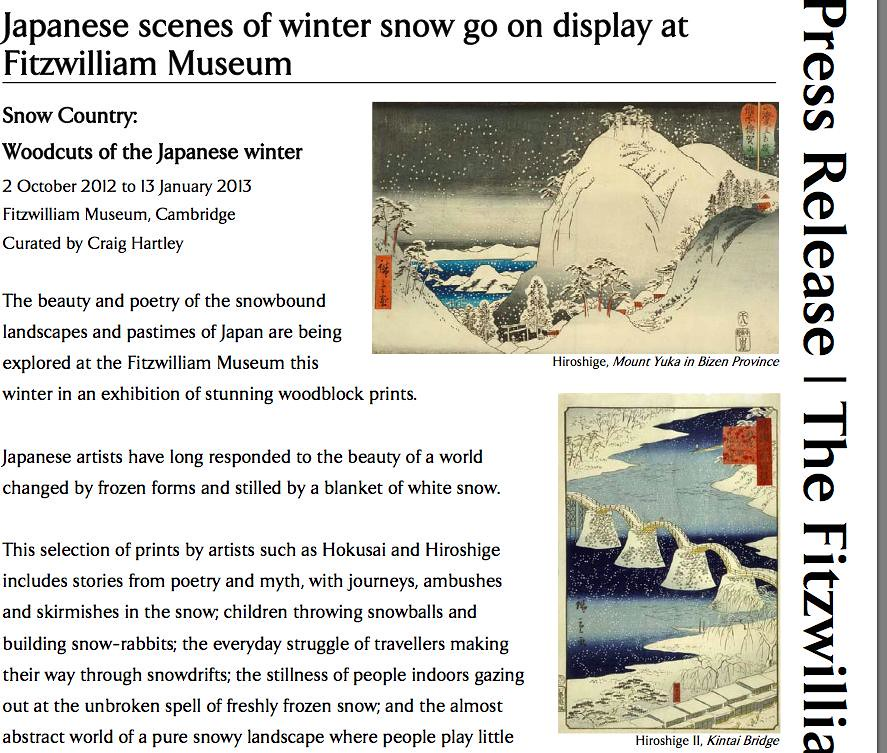 Winter snow press release