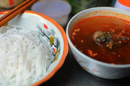 snails and noodles
