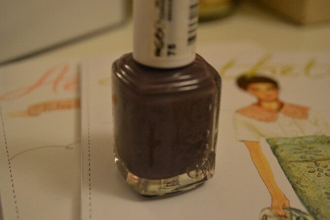 daisybutter - UK Style and Fashion Blog: essie smokin hot, greige nails, nail colour trend