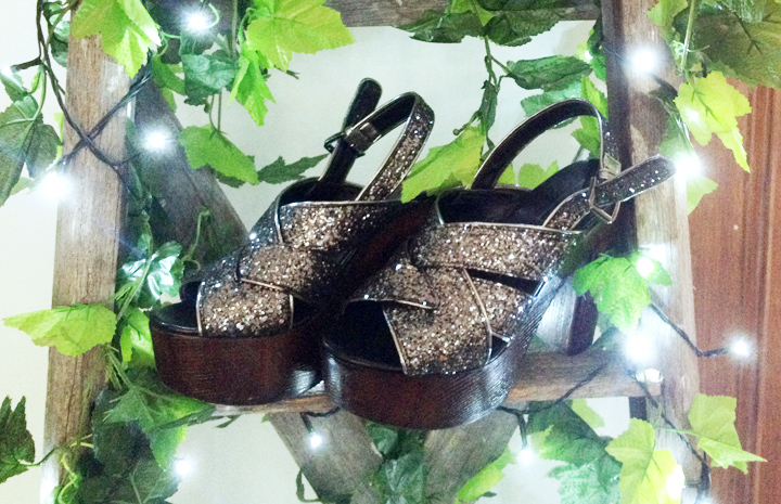 glitter shoes platforms