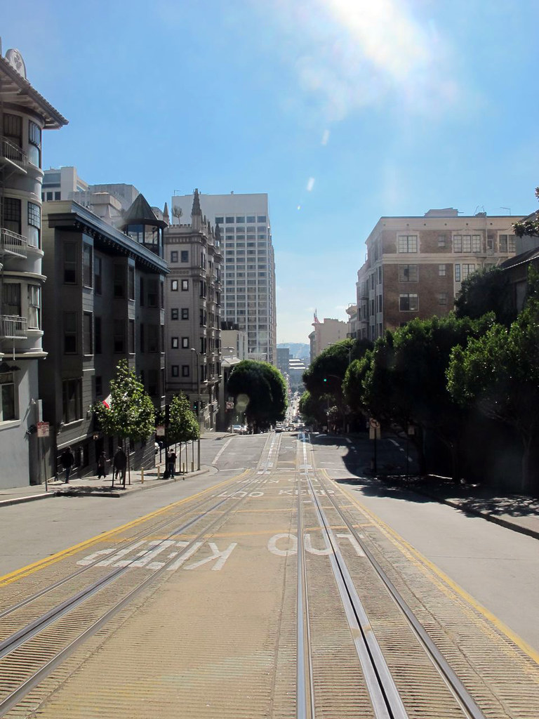 Riding the famous San Francisco Cable Car